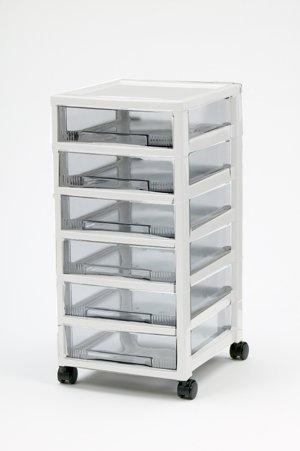 rollwagen mit 6 schubladen, schreibtischwagen weiss, beistellwagen ... - Rollwagen Für Küche