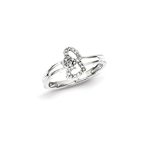 Sterling Silver Diamond Heart Ring by CoutureJewelers