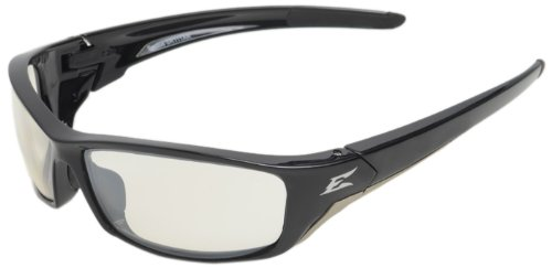 Edge Eyewear SR111AR Reclus Safety Glasses, Black with Clear Anti Reflective Lens Edge Safety Glasses
