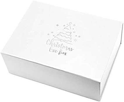 Xmas Eve Box Caja de regalo magnética de Navidad rígida, diseño elegante, blanco, A4 - 310 X 215 X 100 mm: Amazon.es: Oficina y papelería