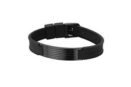 Zenturio Limited Black Wave Element 13mm Edition exclusive magnet/ion / health bracelet – TÜV Rheinland Germany certified – For your health and wellbeing - Without Etui