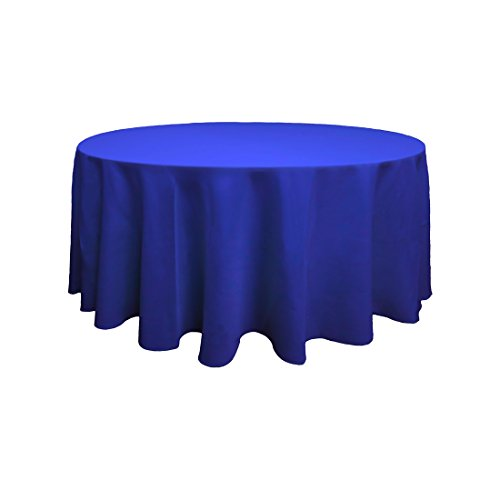 Sunnolimit Tablecloth - 108 Inch Dia -Royal Blue-Round Polyester Table Cloth, Wrinkle,Stain Resistant - Great for Buffet Table, Parties, Holiday Dinner & More