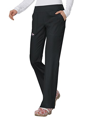Mariposa by Koi Women's maddi Yoga-Style 4 Pocket Pant- Black- Large Petite ()