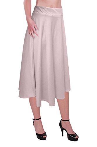 Crme Plus Le Taille Taille Jupe Tailles Femmes Genou Patineur Aux Plaine Longueur lastique vas Dames 6xqwAZ5Y