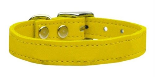 "Mirage Pet Products Plain Leather Yellow Dog Collar, 22"" from Mirage Pet Products"