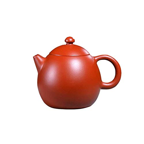 Purple Sand Teapot Original Mine Dahongpao Material Egg-Shaped Teapot Body Smooth and Round 260ml (Color : A, Size : 260ml)