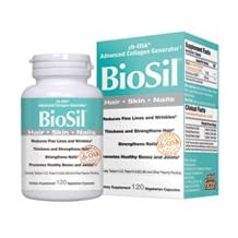 Biosil, Skin & Hair & Nails 120 Vcaps by Natural Factors (Pack of 2)