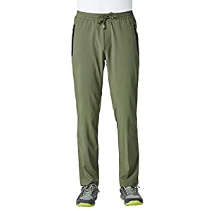 ChinFun Men's Summer and Autumn Casual Workout Pants Lightweight Quick Dry Hiking Running Outdoor Sports Trousers