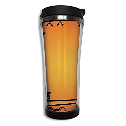 Customizable Travel Photo Mug with Lid - 14.2OZ(420