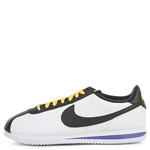 (Nike Cortez Basic Leather Mens Style: BV2527-100 Size: 11.5, White/Black-amarillo)