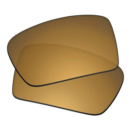 Predrox Metallic Bronze Mirror Gascan Lenses Replacement for Oakley Sunglass Polarized ()