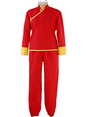 LVCOS Gintama Cosplay Kagura COS Halloween Party red Cheongsam Costumes