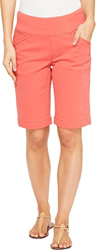 Jag Jeans Women's Ainsley Bermuda Classic Fit Bay Twill Coral Spice 0 - Classic Shorts Bay