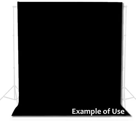 Fondo Profesional DynaSun W002 280x400cm Negro Algod/ón 140g//sqm para Estudio Fotografico Video