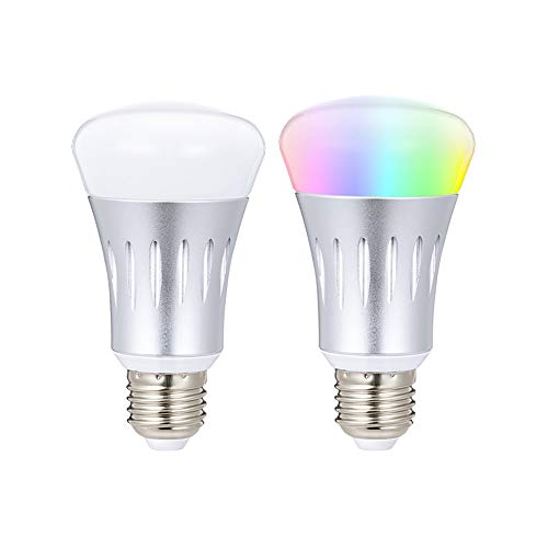 WONYERED WiFi Bulb 2-Pack E27 Smart Light Bulb ...