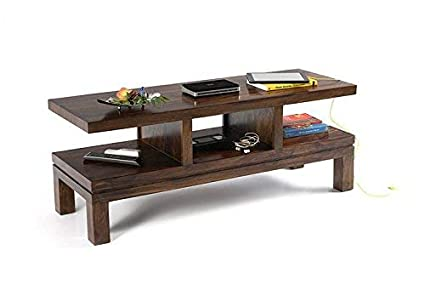 Riddhi Siddhi Home Decor Sheesham Wood Entertainment Unit for Living Room | Brown Finish