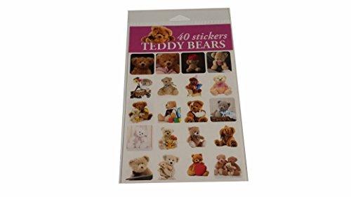 Faith Teddy Bear - 40 Count Teddy Bear Sticker Sheet