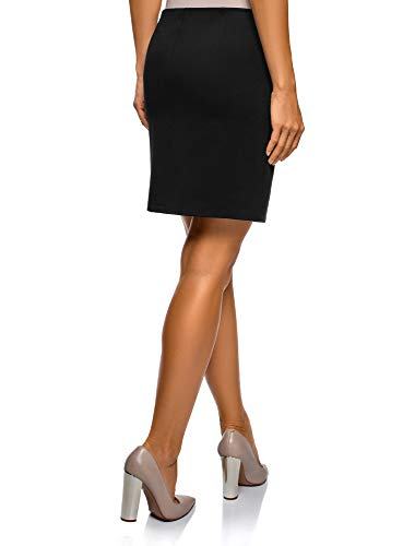Mini Poches oodji Femme Ultra Noir Jupe 2900n 0qwq1R