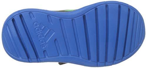 adidas Toddler Altarun Running Shoe, Carbon/Vivid Green/Bright Blue, 5K M US Toddler