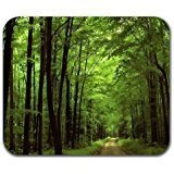Deep In The Forest Thick Green Vegetation Tree Nature Mouse Pad Mat