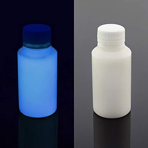 (UV Blacklight Reactive Almost Invisible Neon Paint, Invisible Fluorescent Paint, neon Night UV Paint (Blue, 1 oz (30)