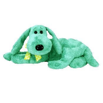 TY Beanie Babies Green Puppy Dog ** DIDDLEY**  9th Gen New w