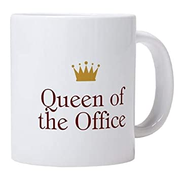 The office coffee mug Funny Queen Of The Office Coffee Mug 11oz Coffee Mug Amazoncom Amazoncom Queen Of The Office Coffee Mug 11oz Coffee Mug Coffee