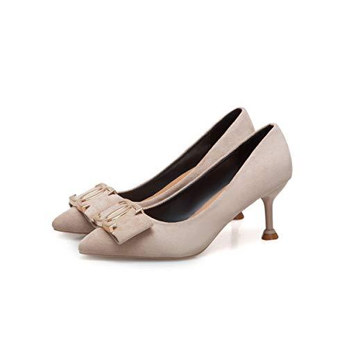 Femmes Nouveau De Hauts Simples Stiletto Printemps Hoesczs Apricot Profonde Bouche Pointu Peu Fan Talons Mode Chaussures Femme Sauvage À W4Anq7wY