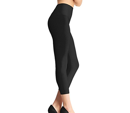 HomeTek USA Yoga High Waist Butt and Thigh Shape and Tone Slimming Leggings, Black, 1 Count