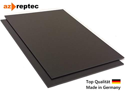 2m x 1m Acrylnitril-Butadien-Styrol Top Qualit/ät Kunststoffplatte ABS 1mm Schwarz 2000x1000mm Made in Germany Einseitige Schutzfolie