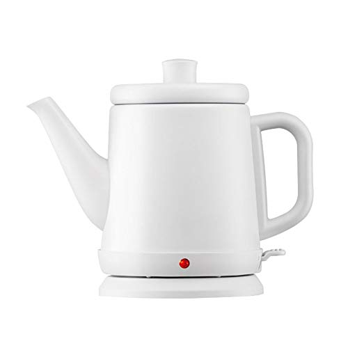 Mini Electric Tea Kettle, Stainless steel, 0.8Liter, Hot Water Heater (Color : White)