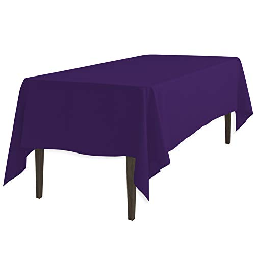LinenTablecloth 60 x 126-Inch Rectangular Polyester Tablecloth Purple]()