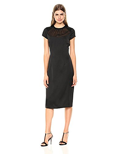 Satin Sheath (Wild Meadow Women's Fifties Satin Sheath Dress L Black)