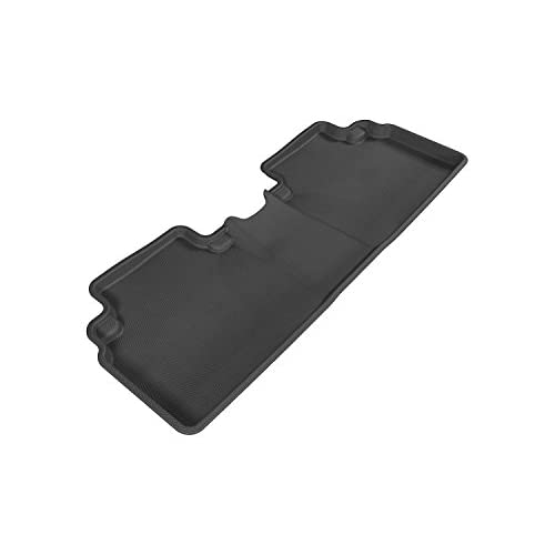 Top 3D MAXpider Second Row Custom Fit All-Weather Floor Mat for Select Honda Civic Models - Kagu Rubber (Black) free shipping