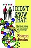 I Didn't Know That!, Sharon Renfro, 1591133114