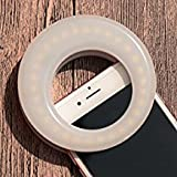 Selfie Ring Light for Phone Camera Photography Video, Rechargeable Clip White