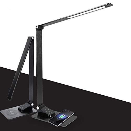 THE SAFETY ZONEY Portable LED Desk Lamp with Flexible Gooseneck, Touch Control Dimmable Table Lamp Night Light Mode, 1H Timer, 12W, Black, Official Member of Philips Enabled Licensing Program - Black by THE SAFETY ZONEY