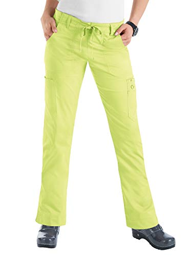 KOI Stretch Women's Lindsey Scrub Pant Lemon Lime S -