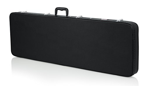 Gator Cases Hard-Shell Wood Case for Electric Bass Guitars; Fits Fender Precision/Jazz Bass, & More (GWE-BASS)