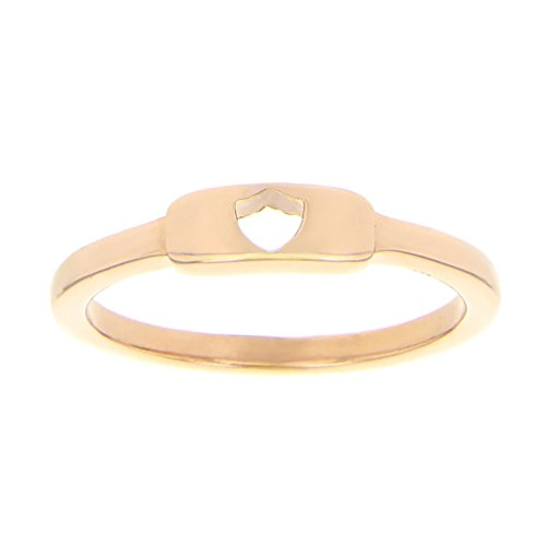 Shield Cutout Ring - Rose Gold (5) by LDS Bookstore