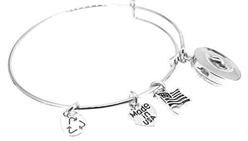 Bracelet Silver Expandable Bangle American