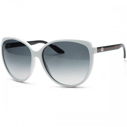 Gucci GG 3162/S OVEJJ White Black Sunglasses Gray Gradient Lens Made in - Made Italy In Gucci Sunglasses