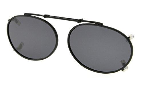 clip 49x30mm borde gafas Gris sol polarizado Metal lente en de marco oval Eyekepper xqwHPWSYp
