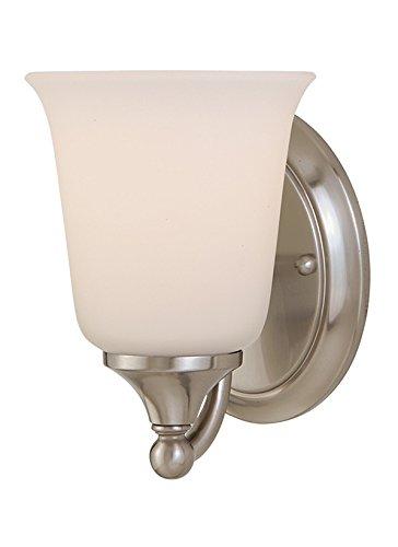 Murray Feiss VS10501-BS Claridge 1 Light Vanity Fixture, Brushed Steel - Bs Brushed Steel 1 Light