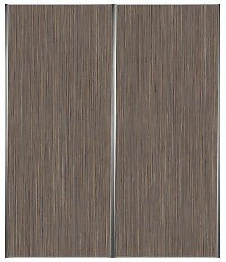 2 Sliding Wardrobe Doors - Grey Beige Zebrano With Vogue Frames - 1680 x 2490 mm & 2 Sliding Wardrobe Doors - Grey Beige Zebrano With Vogue Frames ... pezcame.com