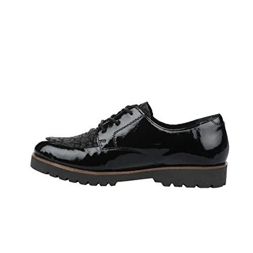 À Noir Remonte Femme Lacets Chaussures Verni qYpZRw