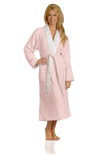 Luxury Spa Robe - Microfiber with Cotton Terry Lining, Pink, XXX-Large by Plush Necessities (Image #2)