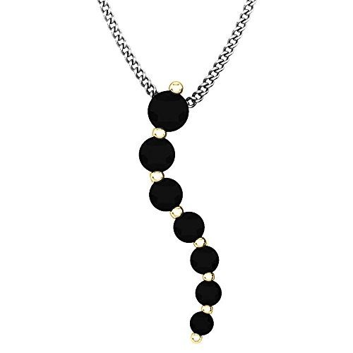 (Dazzlingrock Collection 0.75 Carat (ctw) 10K Round Black Diamond Ladies Journey of Life Pendant 3/4 CT, Yellow Gold)