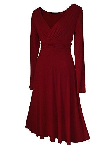 36 52 Robe robe en diffrents Robe manches VINTAGE lgante Sexy Disponible Femme Taille cocktail de STYLE Bordeaux longues coloris 8cxwTaqXCx