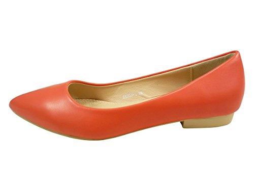 Bailarinas puntiagudos, Botas planas para mujer Rojo - rojo